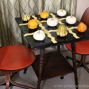 Pumpkin Tic Tac Toe Table { Fall Home Tour }