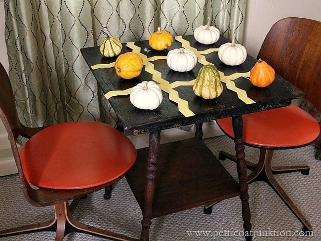Pumpkin Tic Tac Toe Table Petticoat Junktion Fall Home Tour
