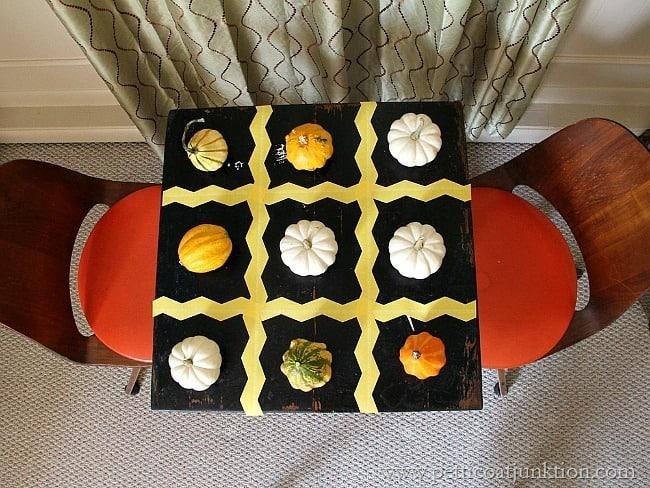 Pumpkin Tic Tac Toe Table Petticoat Junktion Frog Tape Project