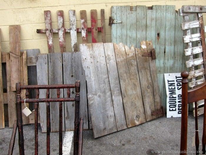antique wood gates