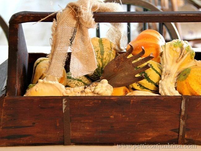 burlap and pumpkins Petticoat Junktion
