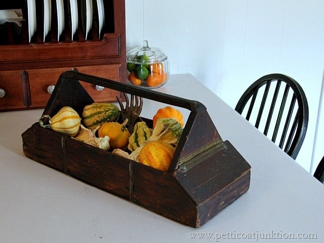 fall centerpiece display Petticoat Junktion
