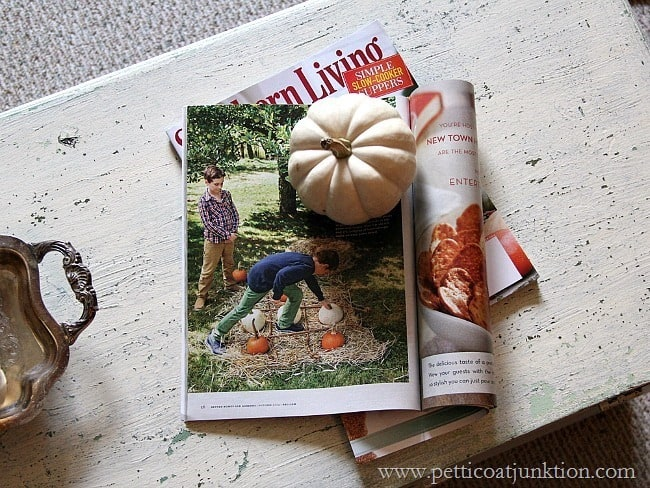 fall decor ideas Southern Living Magazine Petticoat Junktion knockoff