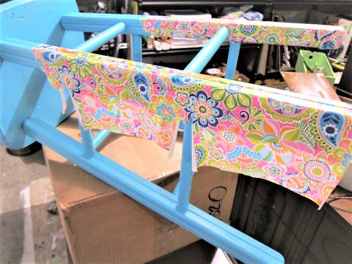 paper decoupage furniture project