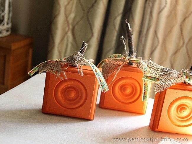 square wood pumpkins Petticoat Junktion