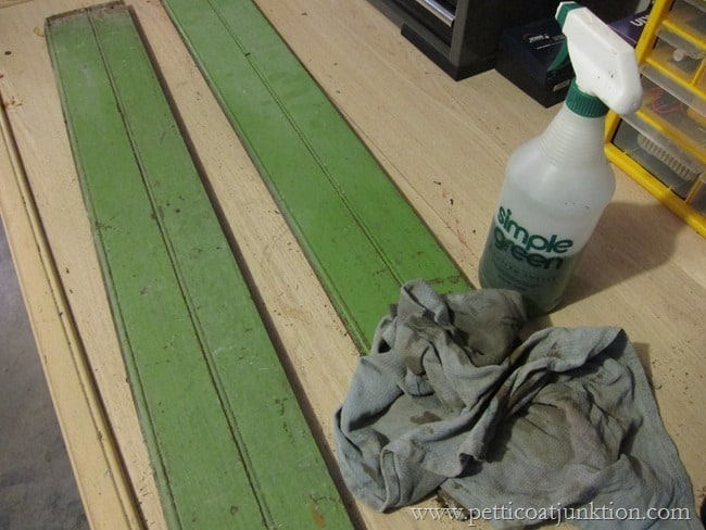 vintage green tongue and groove boards Petticoat Junktion