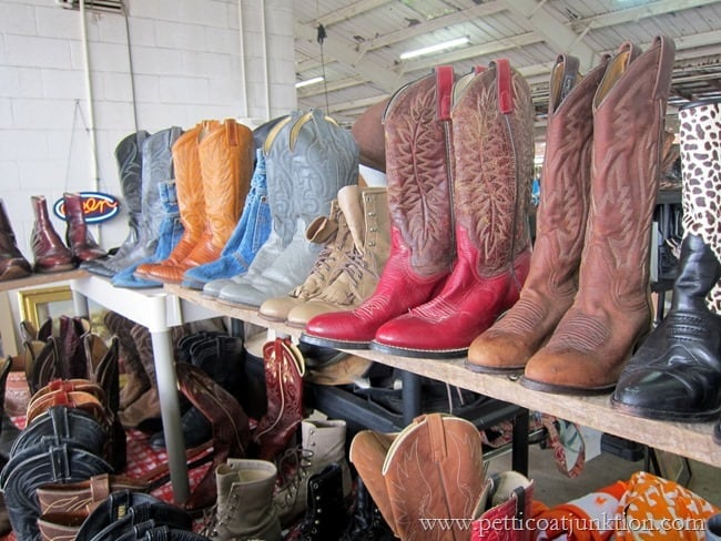 Cowboy boot Nashville Flea Market Petticoat Junktion