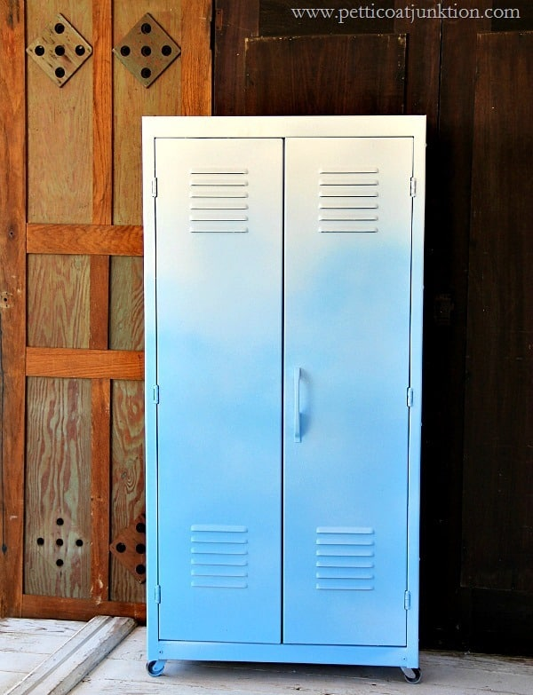 Ombre Painted Metal Locker