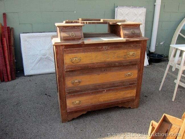 antique dresser Nashville Flea Market Petticoat Junktion shopping trip