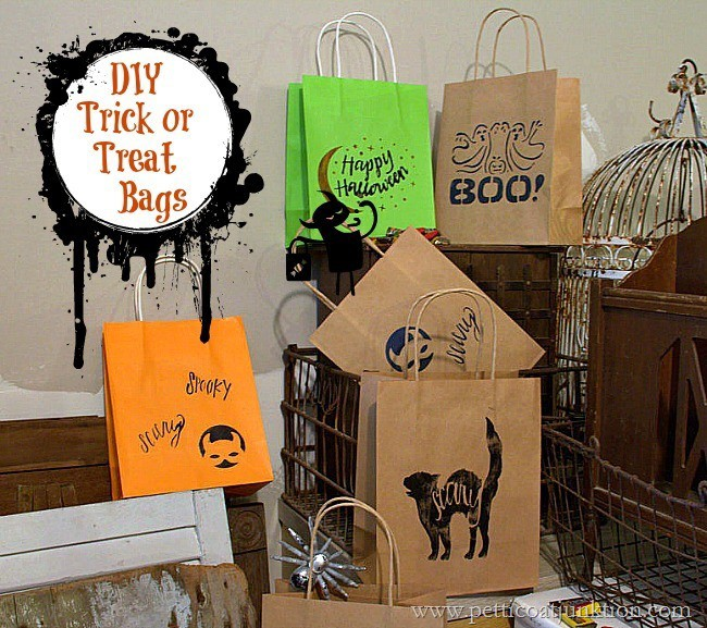 budget friendly trick or treat bags Petticoat Junktion