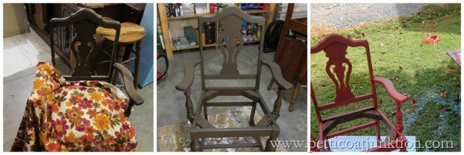 chair makeover project Petticoat Junktion