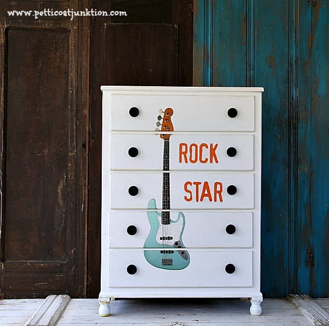 furniture makeover perfect for a rock star Petticoat Junktion
