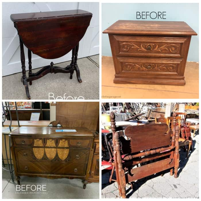 furniture makeovers or flea market flips using paint techniques
