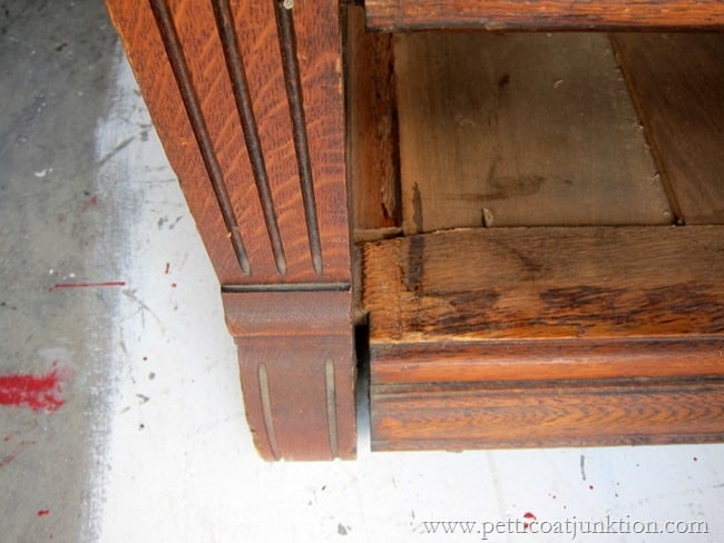 making repairs to antique furniture Petticoat Junktion