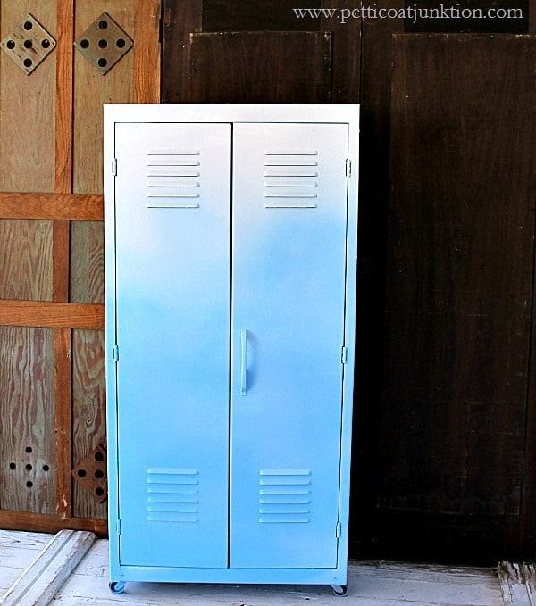 metal locker paint project petticoat junktion using homeright finish max