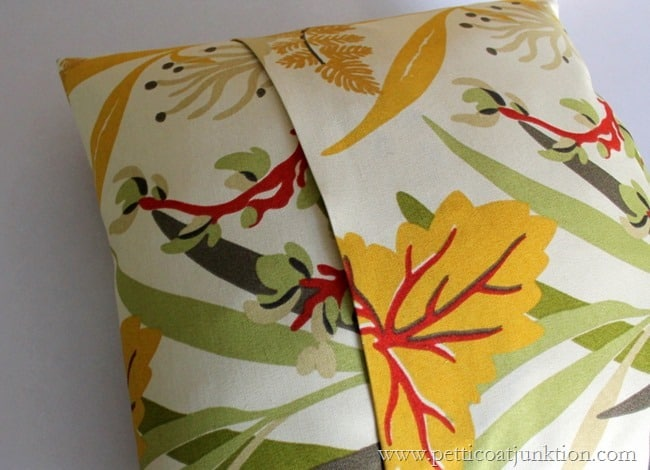 no sew pillow cover with flap opening Petticoat Junktion project