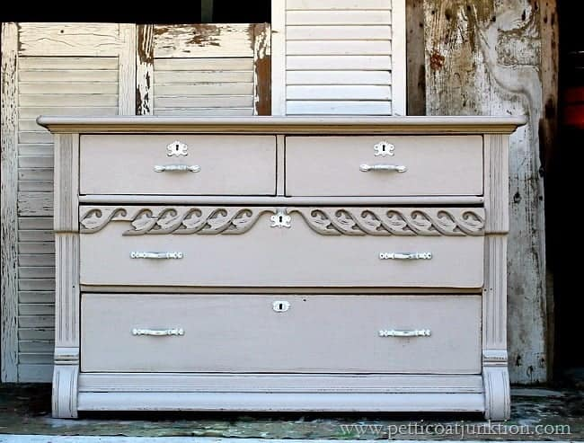paint finish for antique dresser Petticoat Junktion