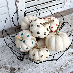 Decorating Ideas for Small White Pumpkins