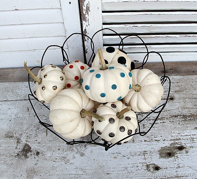 small white pumpkin decorating ideas Petticoat Junktion