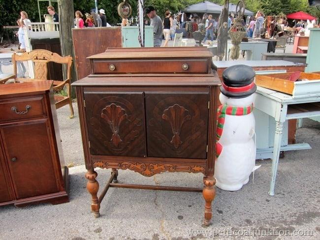 vintage cabinet Nashville Flea Market Petticoat Junktion