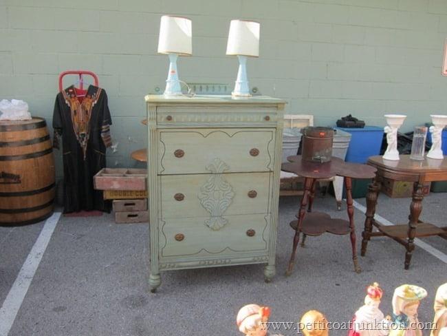 vintage dresser Nashville Flea Market Petticoat Junktion shopping trip