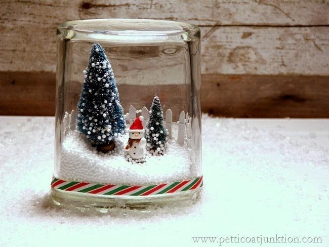Winter scene in a jar Petticoat Junktion
