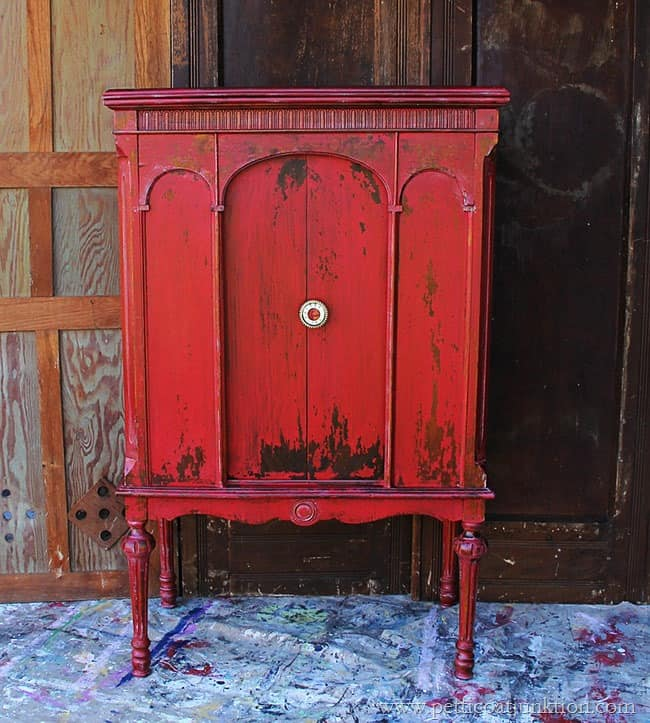favorite tricycle red milk paint project Petticoat Junktion
