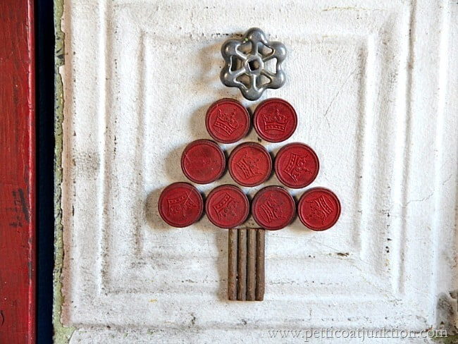 game piece diy Christmas tree wall decor Petticoat Junktion