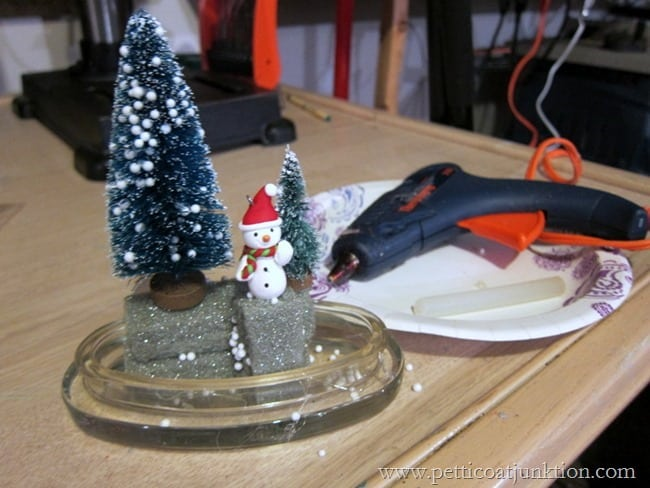 how to create a winter scene in a jar Petticoat Junktion