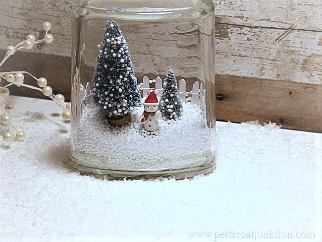 how to make a winter scene in a jar