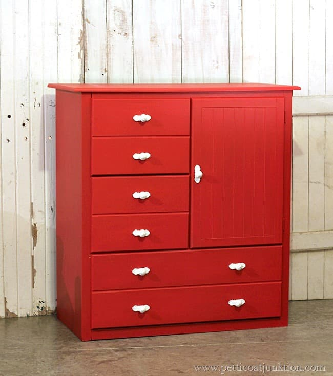 Painted Furniture Theme Of The Month Is Red Petticoat Junktion