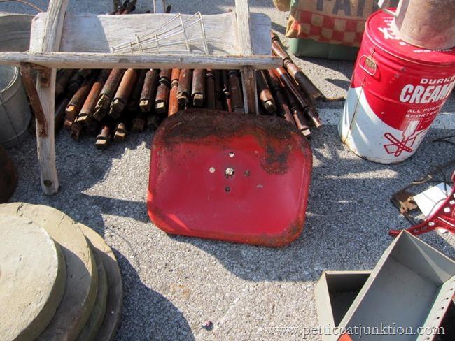 red tractor seat Nashville Flea Market Petticoat Junktion