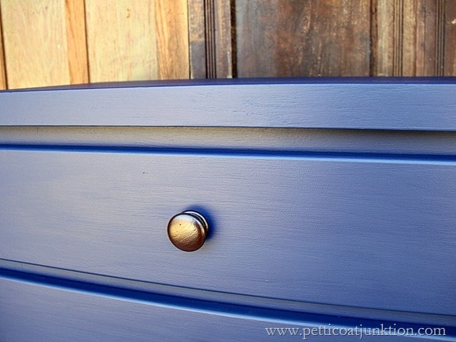 spray paint furniture hardware Petticoat Junktion