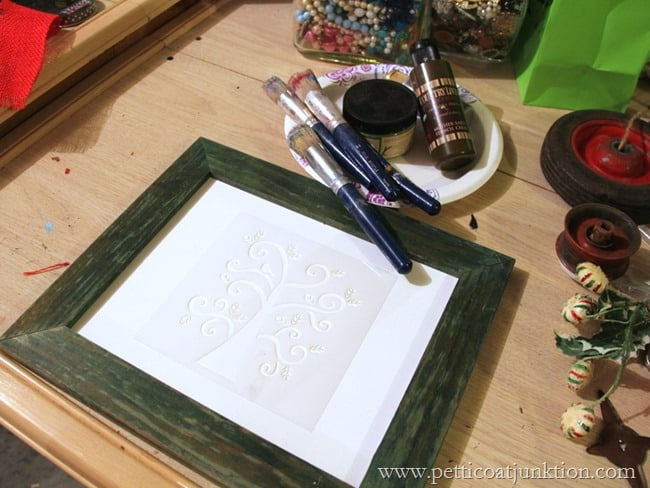 stencil for Partridge in a Pear Tree Petticoat Junktion
