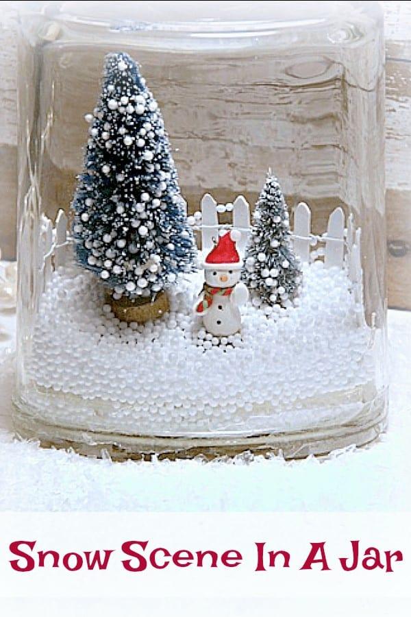 snowman in a glass jar