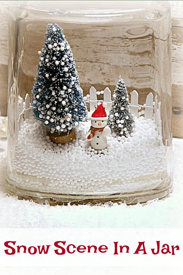 winter snow scene in a jar