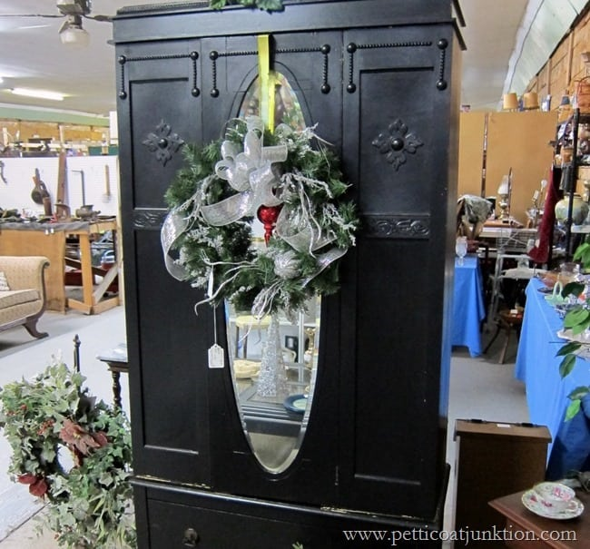 Antique Wardrobe Christmas shopping at the junk shop Petticoat Junktion