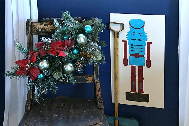 Christmas Nutcracker stencil Christmas project Petticoat Junktion