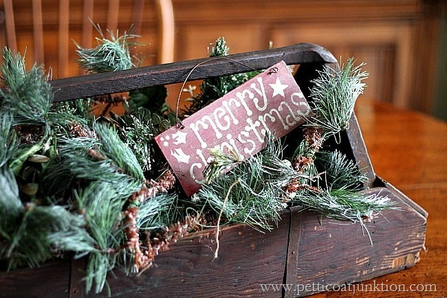Merry Christmas Sign Petticoat Junktion