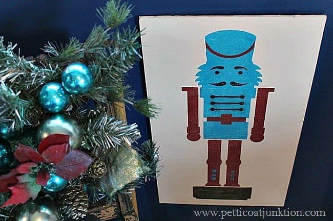 Nutcracker Christmas Stencil project Petticoat Junktion