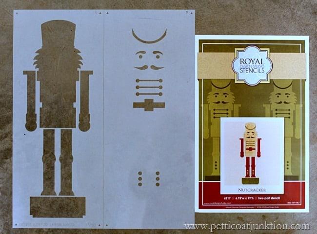 Nutcracker Stencil Royal Design Studio Petticoat Junktion project