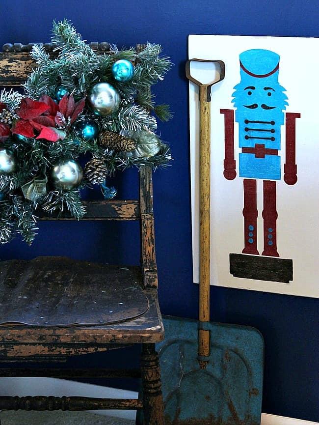 Royal Design Studio Nutcracker Stencil Petticoat Junktion Christmas Project 2