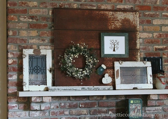 Simple Christmas Mantel Decor Display Petticoat Junktion