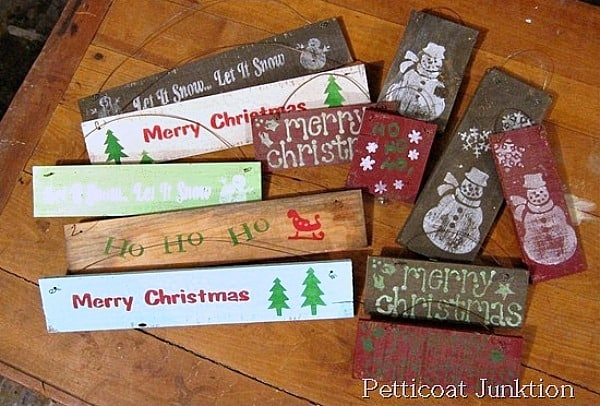 diy Christmas signs Petticoat Junktion
