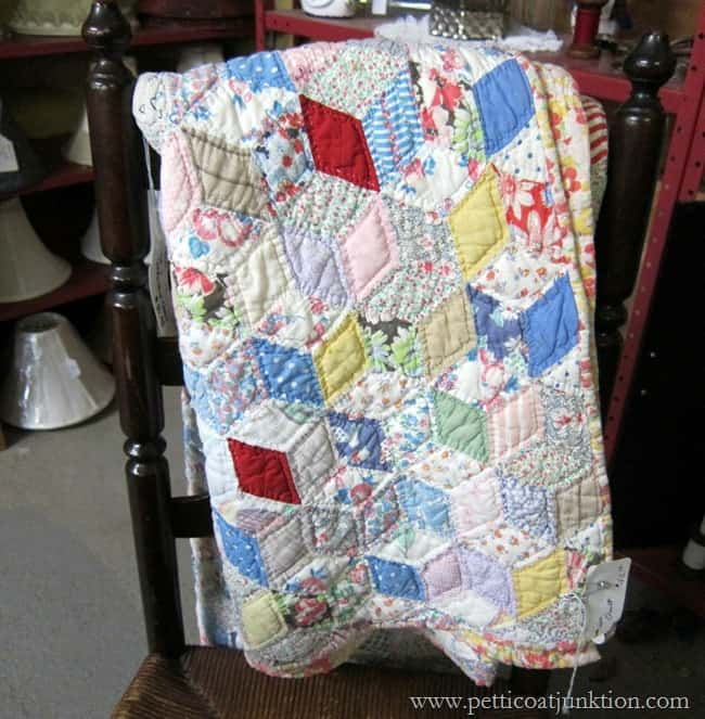 handmade quilt Christmas shopping at the junk shop Petticoat Junktion