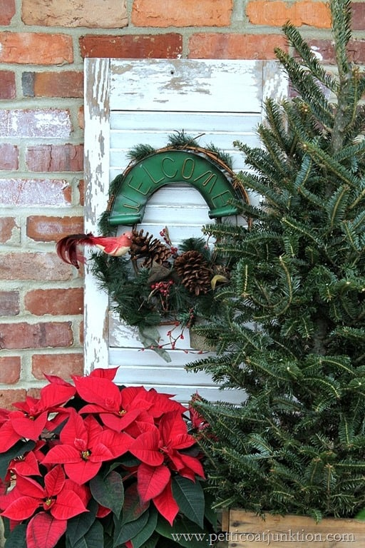 vintage Christmas decorations Welcome Home Tour Petticoat Junktion