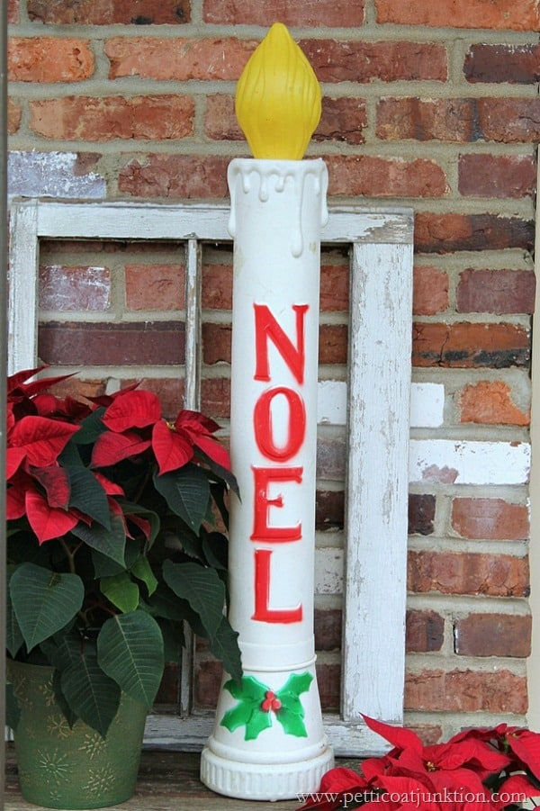 vintage Noel Christmas Candle Welcome Home Tour Petticoat Junktion