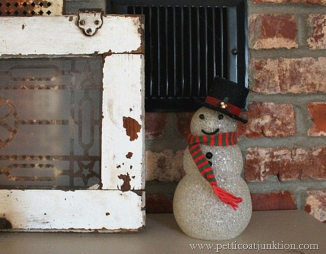 vintage snowman mantel decoration Petticoat Junktion