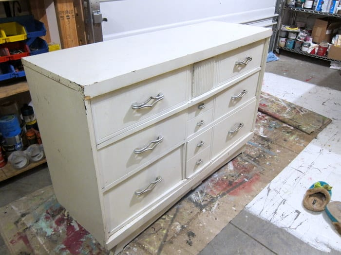 white dresser project Petticoat Junktion