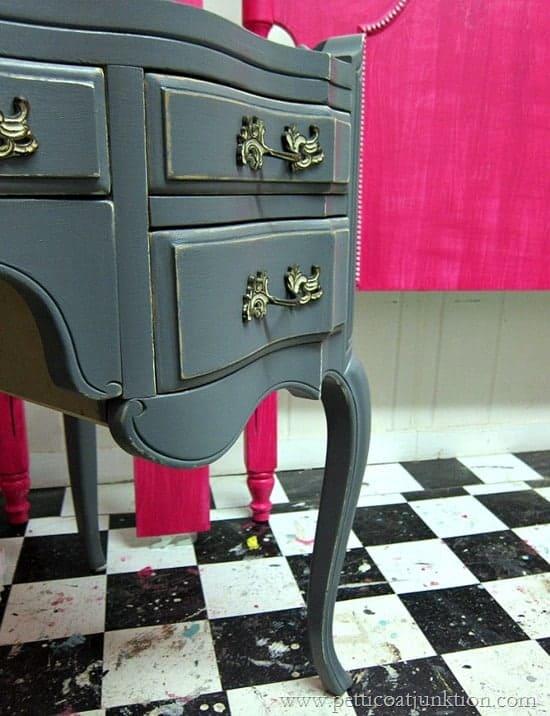French Provincial Desk Petticoat Junktion furniture painting workshop